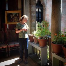 Kelsey at the Isabella Stewart Gardner