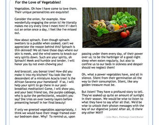 For the Love of Vegetables!