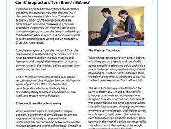 Can Chiropractors Turn Breech Babies?