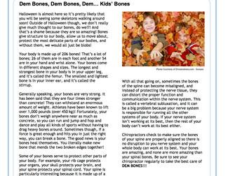 Dem Bones, Dem Bones, Dem… Kids' Bones