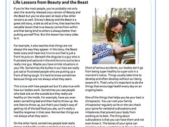 Life Lessons from Beauty and the Beast