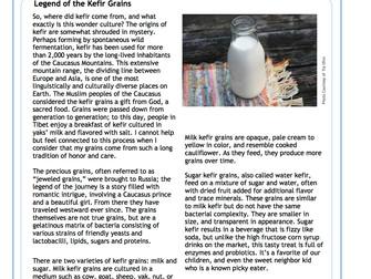 Legend of the Kefir Grains