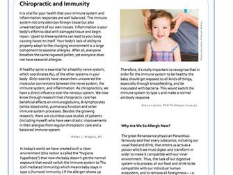 Chiropractic and Immunity
