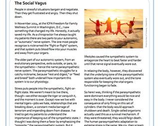 The Social Vagus