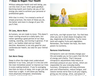 7 Steps to Regain Your Health