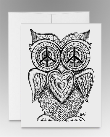 """Peace Owl"" (item #0011)"