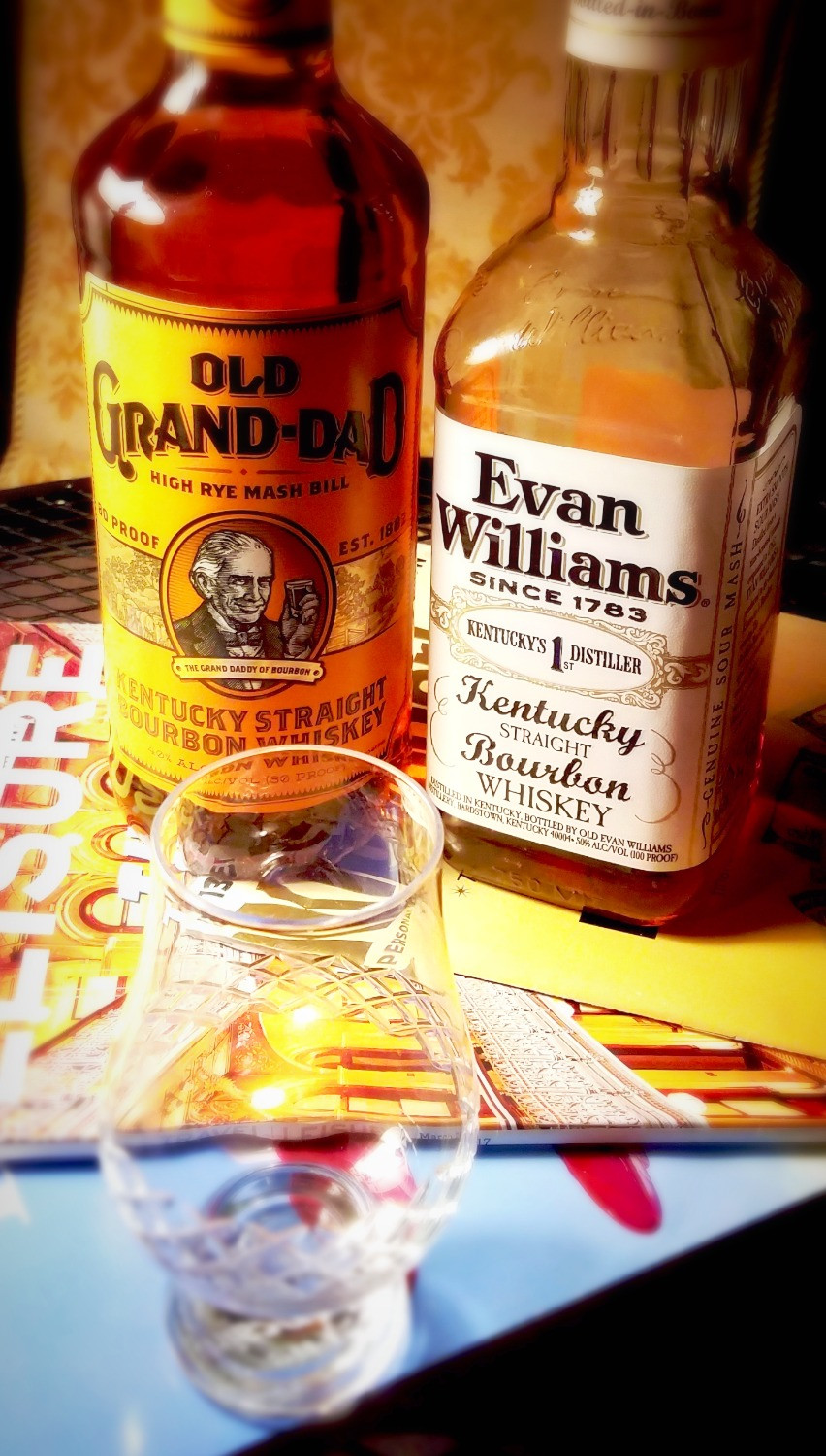 Laurie In Seattle - Old Grandad and Evan Williams Bourbon