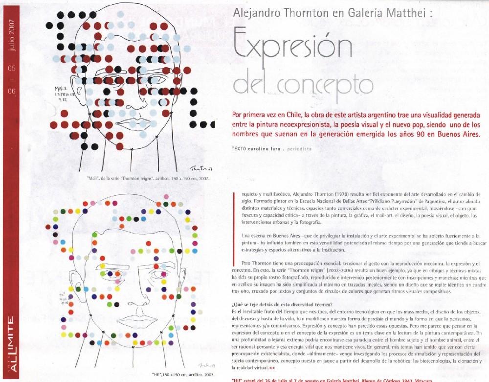 Diario arte al limite, 2007. Chle