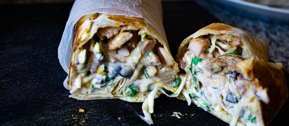Kebab casero de pollo