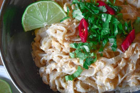 Fetuccini con salsa de anacardos