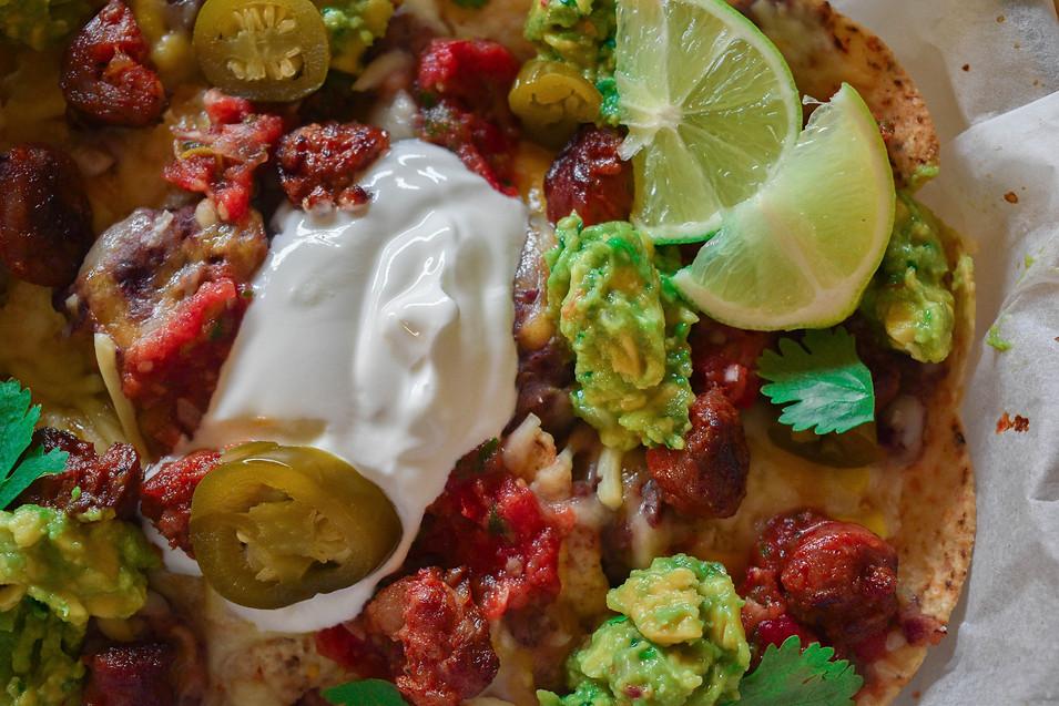Nachos con salsa mejicana