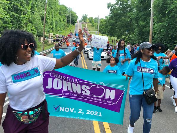 Christian Johnson 4 School Board, 4th of July parade