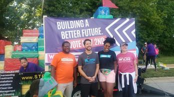 Christian Johnson, Charles  Newman, Melissa Davis, and Kevin Kemper, Labor Day Parade