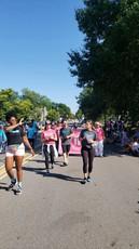 Christian waving in Pickerington's Labor Day parade