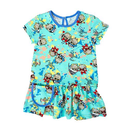10-198НТ Платье для девочек