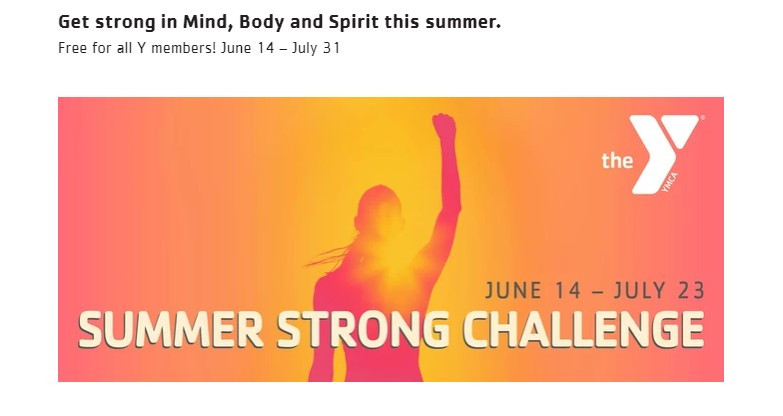 FREE Summer STRONG Fitness Challenge for Y Members
