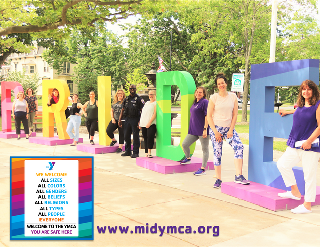 We WELCOME ALL at the Middlesex YMCA #MiddletownPRIDE 2021