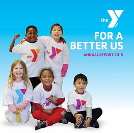 Young children wearing YMCA Tshirts and