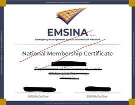 EMSINA Membership Certificate.JPG