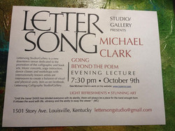 event flyer, Lettersong