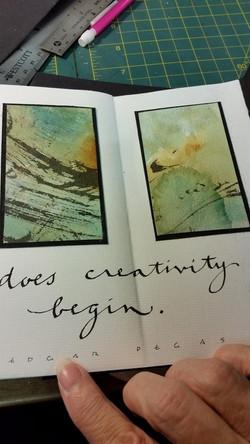 ...does creativity begin