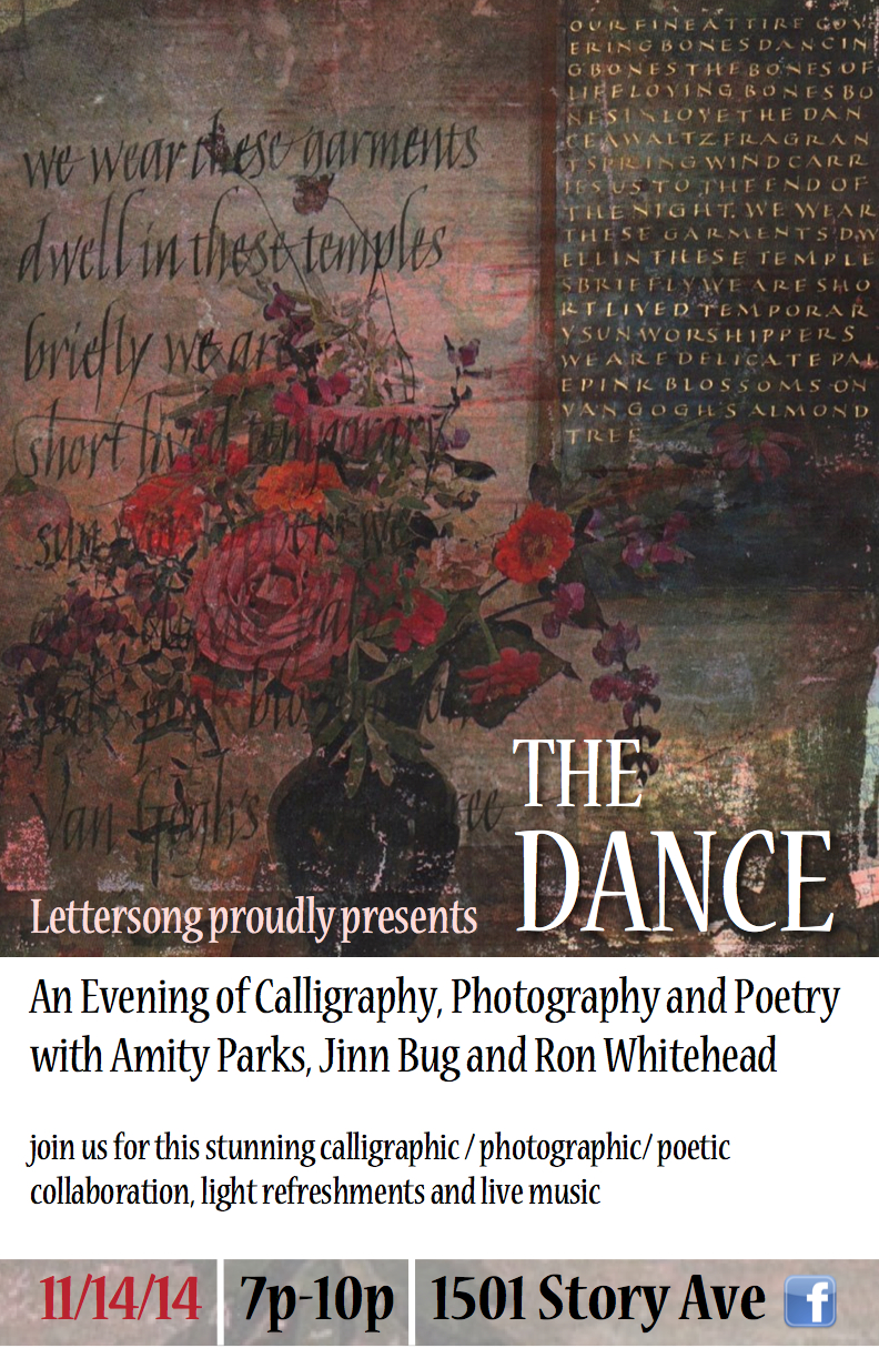 Lettersong event poster, The Dance
