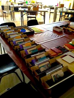 leatherbound book binding workshop