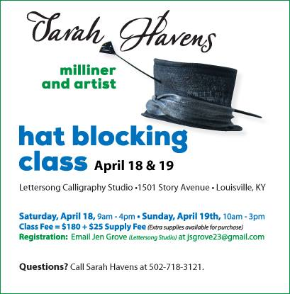 hat blocking class flyer