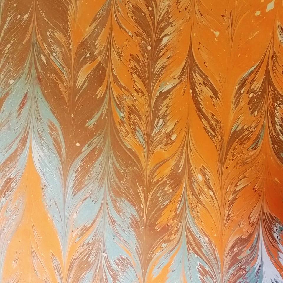 marbling paper, Jen Grove