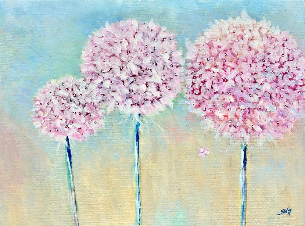 Florales Malen mit Acryl