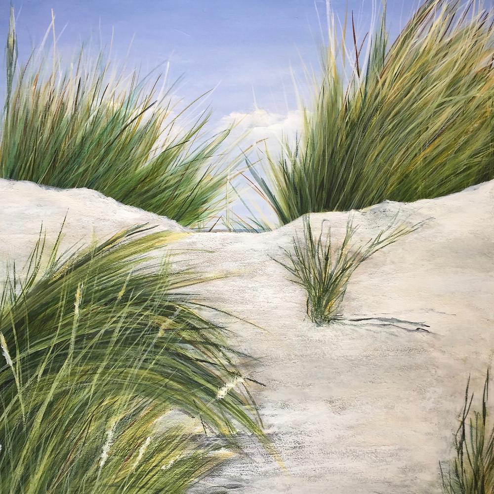 Dünenlandschaft auf Acryl