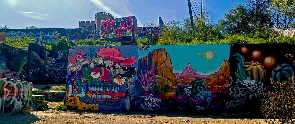 Garffiti Park, Grafitti art, street art, downtown austin