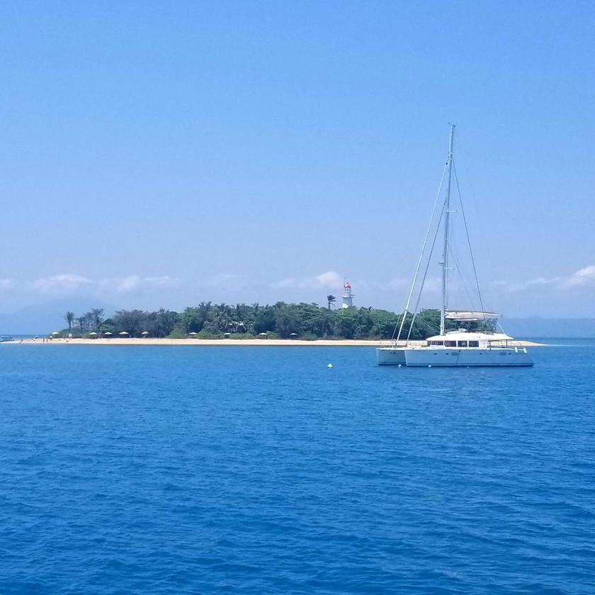 arriving at lower isles, low isles, great barrier reef, australia