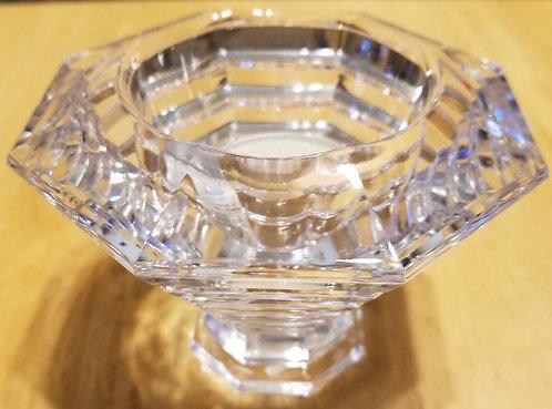 Elegant Fine Crystal Mikasa Plateau Crystal Tea Light Candleholder
