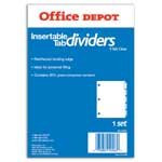 Office Depot(R) Insertable Dividers, 5-Tab, Clear