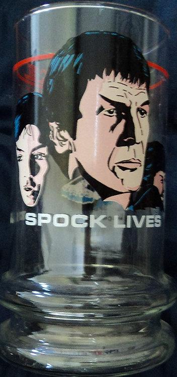 """1984 Taco Bell Star Trek III """"Spock Lives"""" Glass Tumbler"""