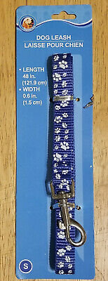 Exceptional Value Dog Leash with paw prints 5/8in x 4ft