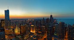 CHICAGO AT DUSK