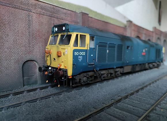 50002 Superb pre-refurbished. Heljan O gauge Class 50