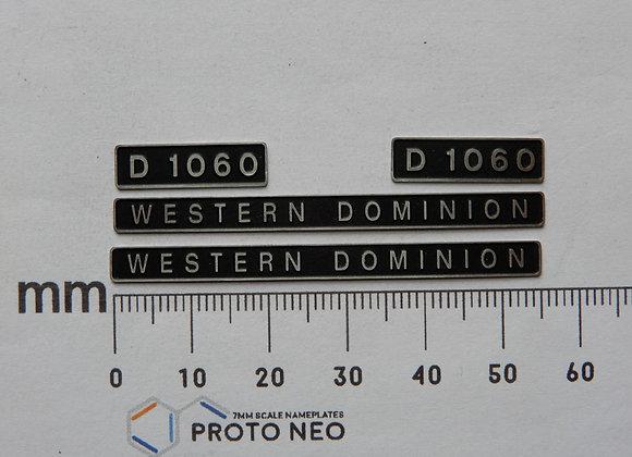 D1060 WESTERN DOMINION