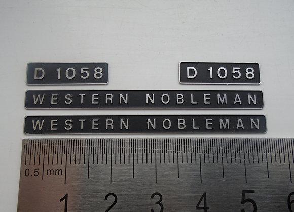 D1058 WESTERN NOBLEMAN