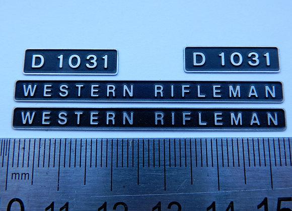D1031 WESTERN RIFLEMAN