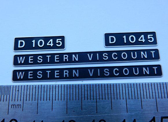 D1045 WESTERN VISCOUNT