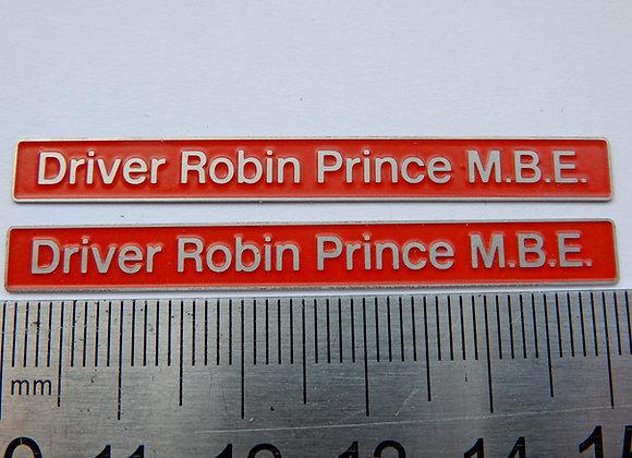 37254 Driver Robin Prince M.B.E.