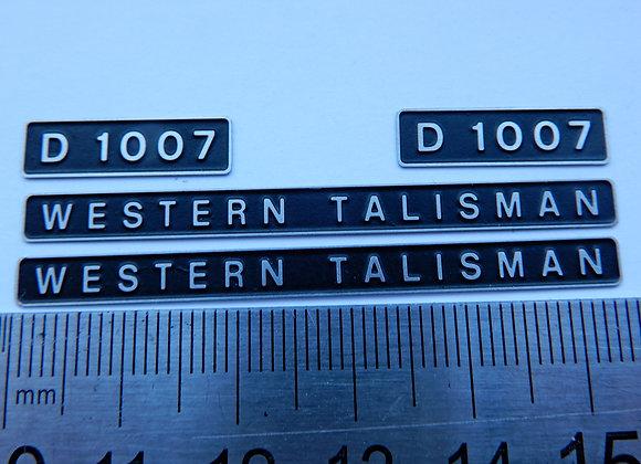 D1007 WESTERN TALISMAN