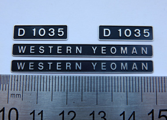 D1035 WESTERN YEOMAN
