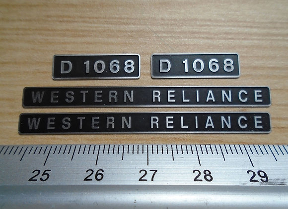 D1068 WESTERN RELIANCE