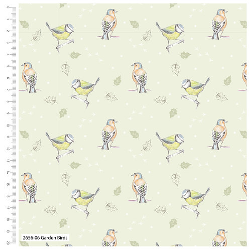 Debbie Shore 'Garden Birds' - Garden birds (price per half metre)