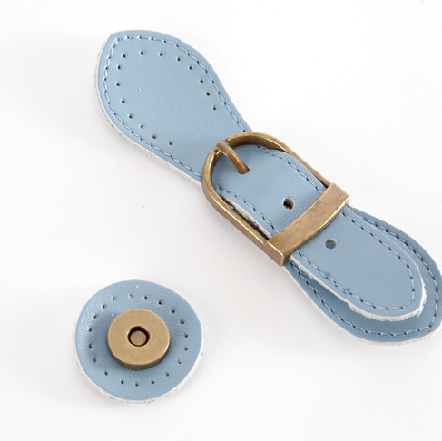 Leather buckles snaps