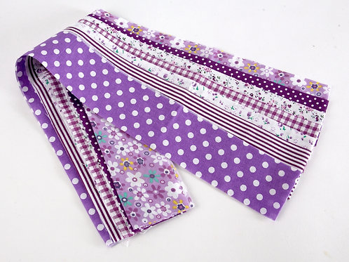 Fabric Strips - Purple 7pcs